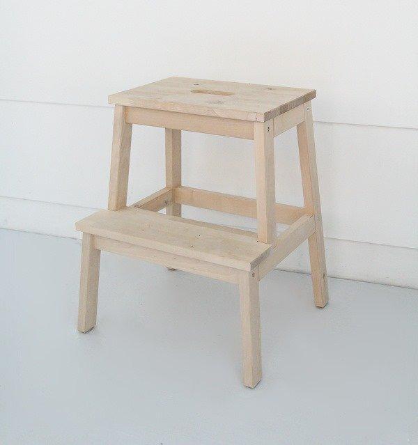 Groovy Making An Ikea Step Stool Pretty Lovely Etc Creativecarmelina Interior Chair Design Creativecarmelinacom