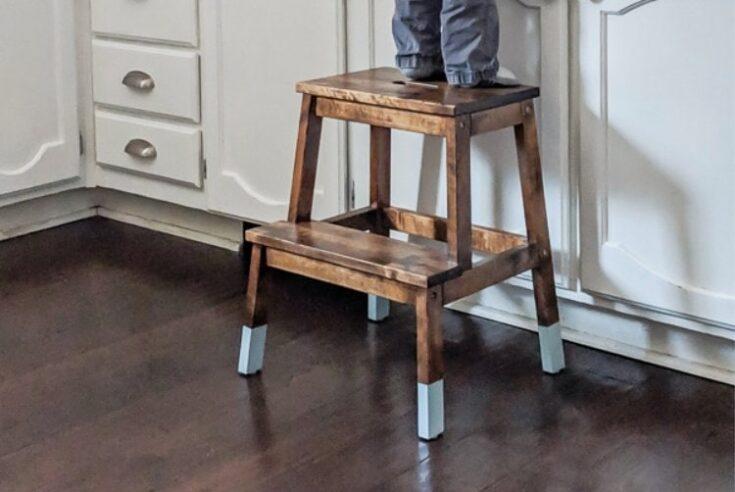 Making an IKEA step stool pretty