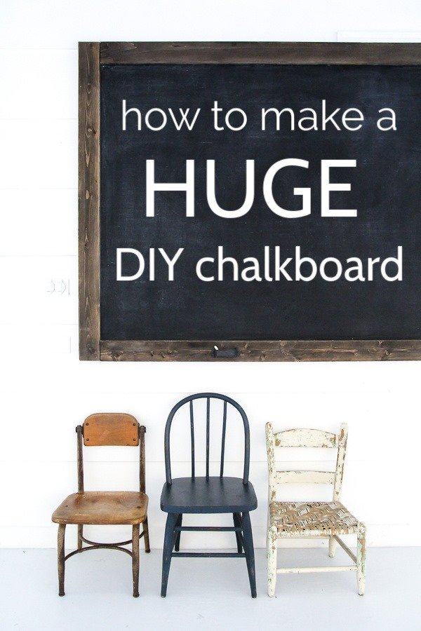 This large framed DIY chalkboard is easy to make yourself even if you are a beginner DIYer and even better, it's crazy cheap.