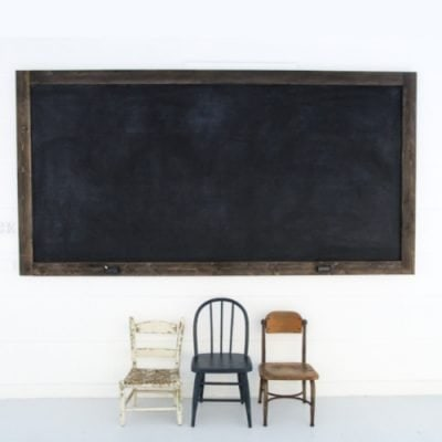 How to Make a Huge Chalkboard for Cheap