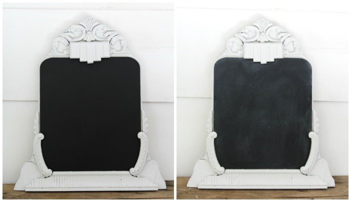 before and after seasoning chalkboard