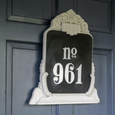 A Charming Upcycled House Number from a Yard Sale Find