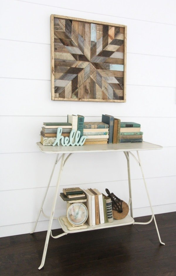 DIY Barn Quilt using reclaimed wood - DIY project from the book Wood Plank Projects by Carrie Spalding