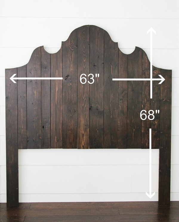 DIY queen wood headboard. Easy to follow tutorial for making this cute wood plank headboard.
