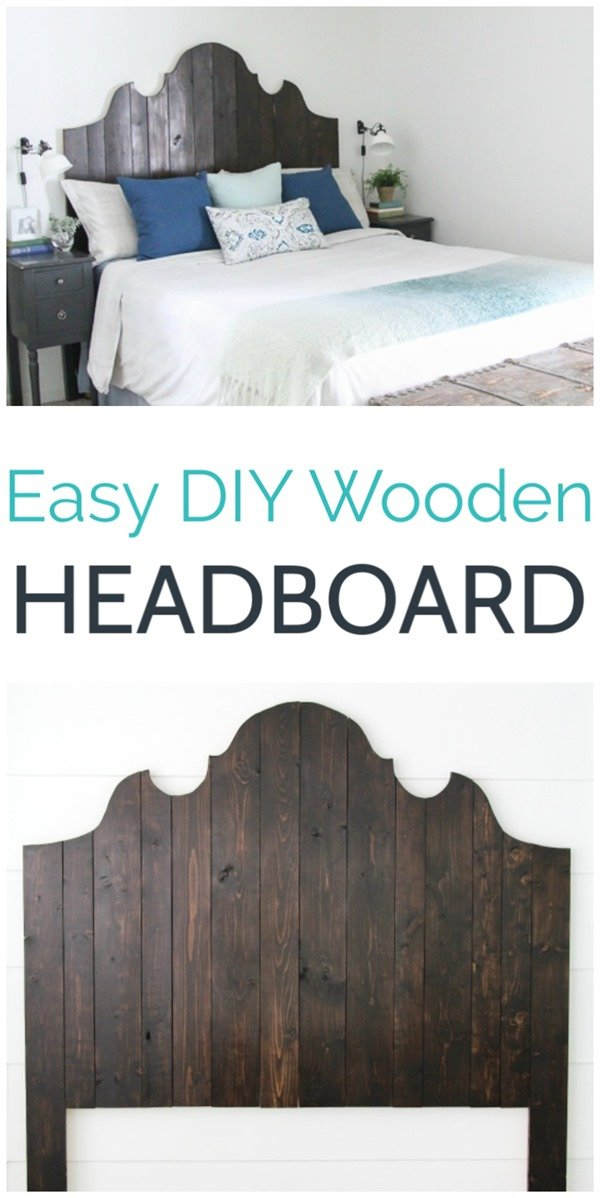Learn how to make a gorgeous DIY wood headboard using inexpensive lumber and a few basic tools. This tutorial walks you step by step through making a queen size DIY headboard, but the directions can easily be adjusted to work for any size bed.