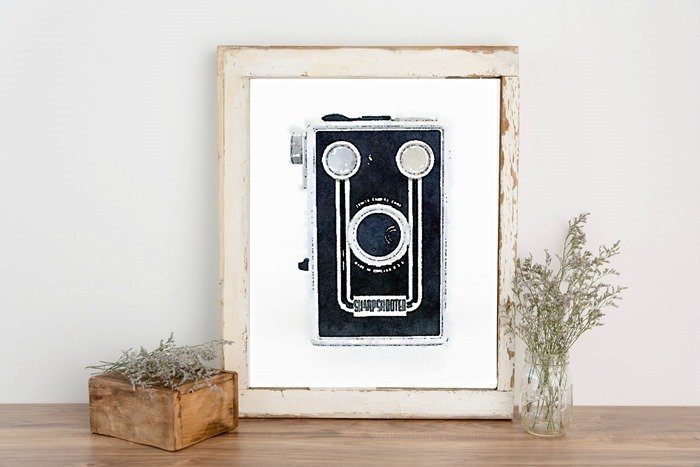 free camera printable framed
