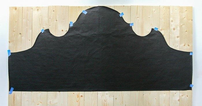 how to make a curvy wood headboard