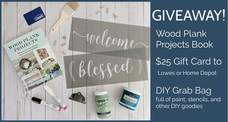 wood plank projects giveaway