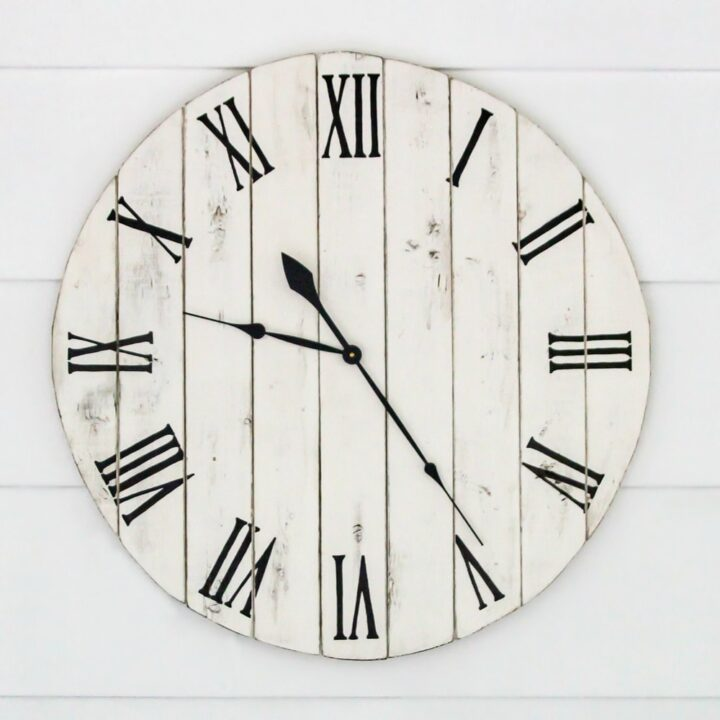 diy farmhouse clock