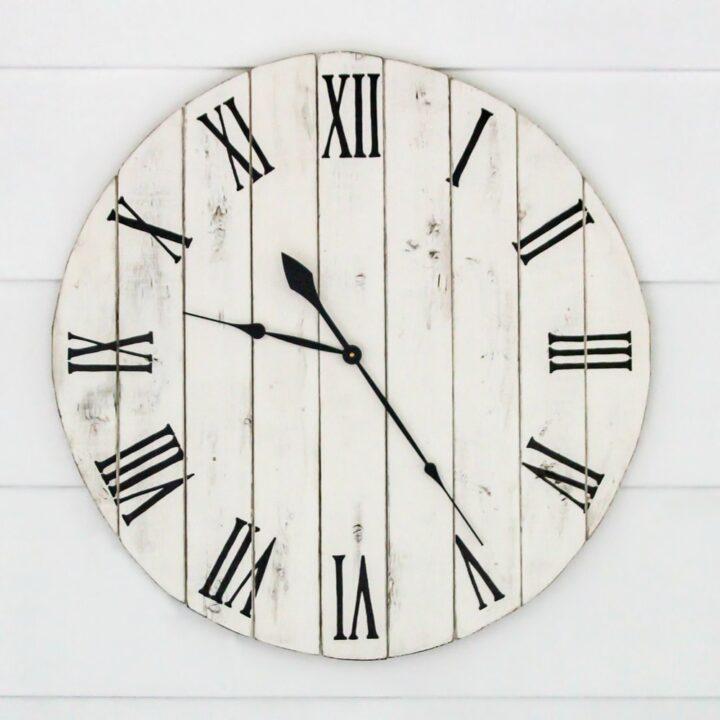 diy farmhouse clock