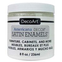 DecoArt Americana Decor Satin Enamels 8oz PureWht