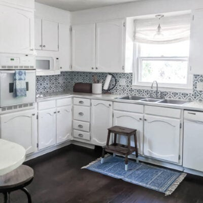 Bright White Kitchen Makeover on a Budget