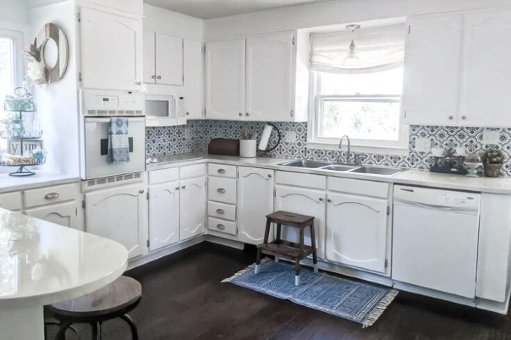 Bright White Kitchen Makeover on a Budget