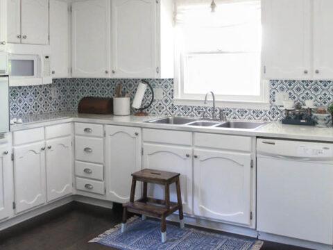 Painting Oak Cabinets White An Amazing, White Washing Laminate Cabinets