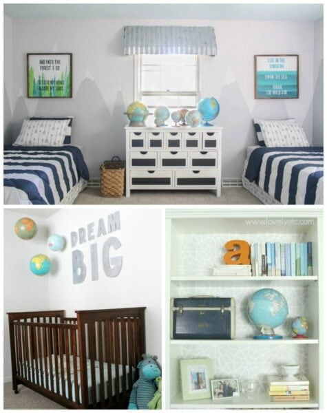 Ideas for decorating with old globes