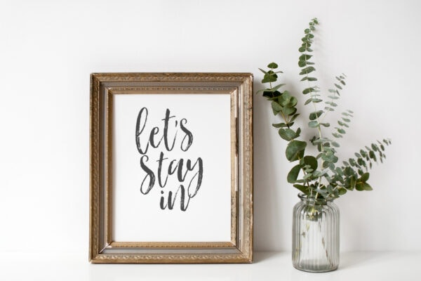 free let's stay in printable