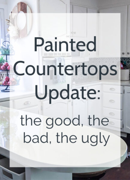 Three years after painting my laminate countertops, I'm sharing a full update on how they have held up.  Including all the good, the bad, and what I would do differently if I were doing it all over.