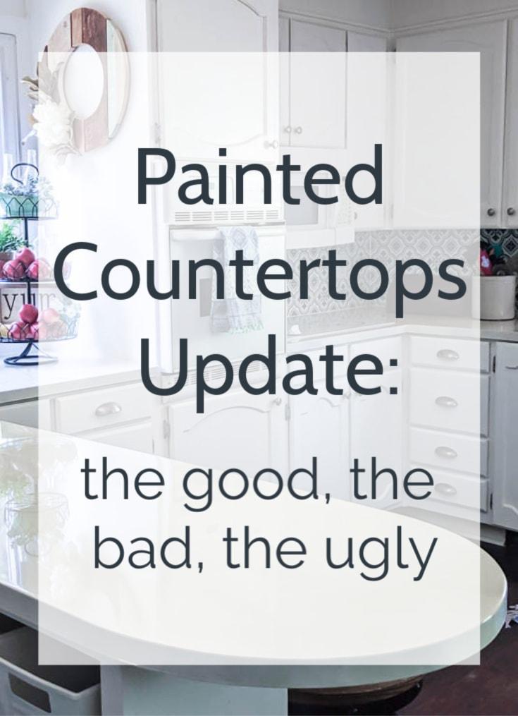 painted countertops update