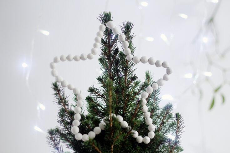 DIY Beaded Star Tree Topper