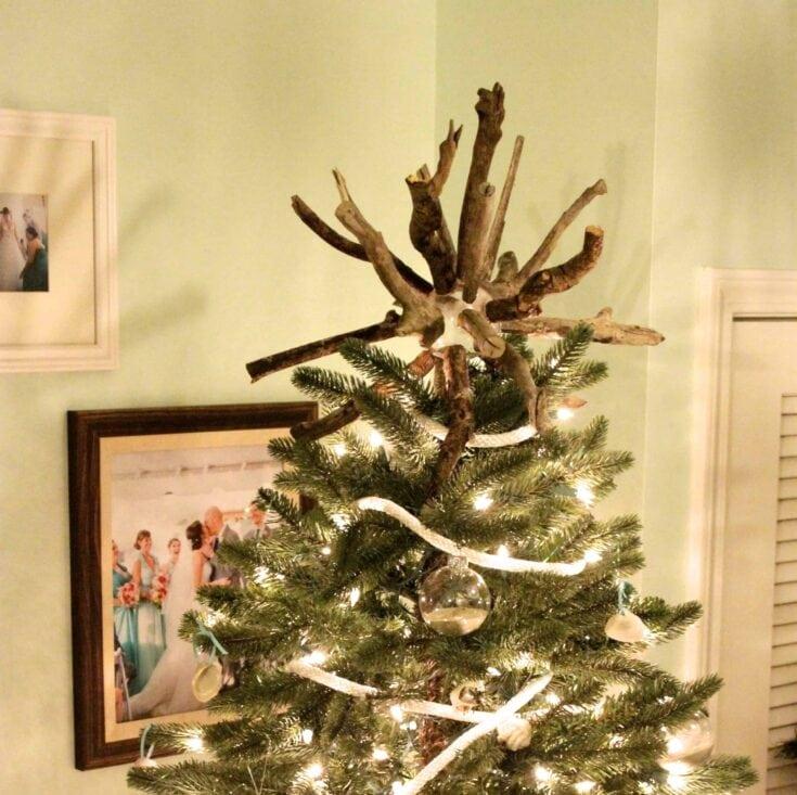 Coastal Christmas: DIY Driftwood Tree Topper