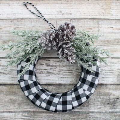 Quick and Easy Buffalo Plaid Christmas Ornament