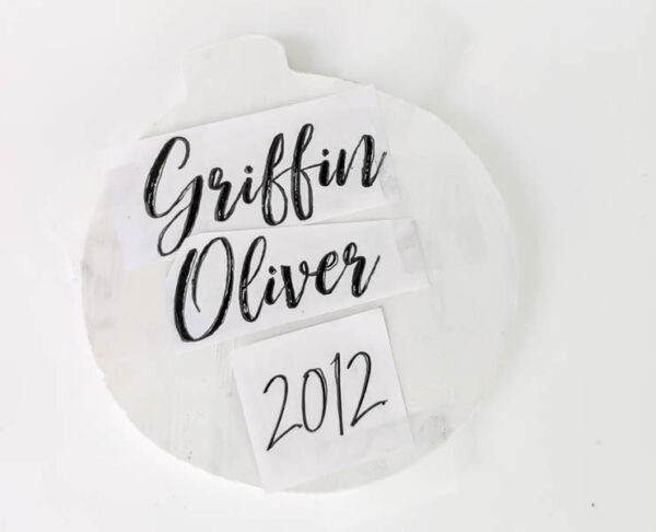 Making easy personalized Christmas ornaments.
