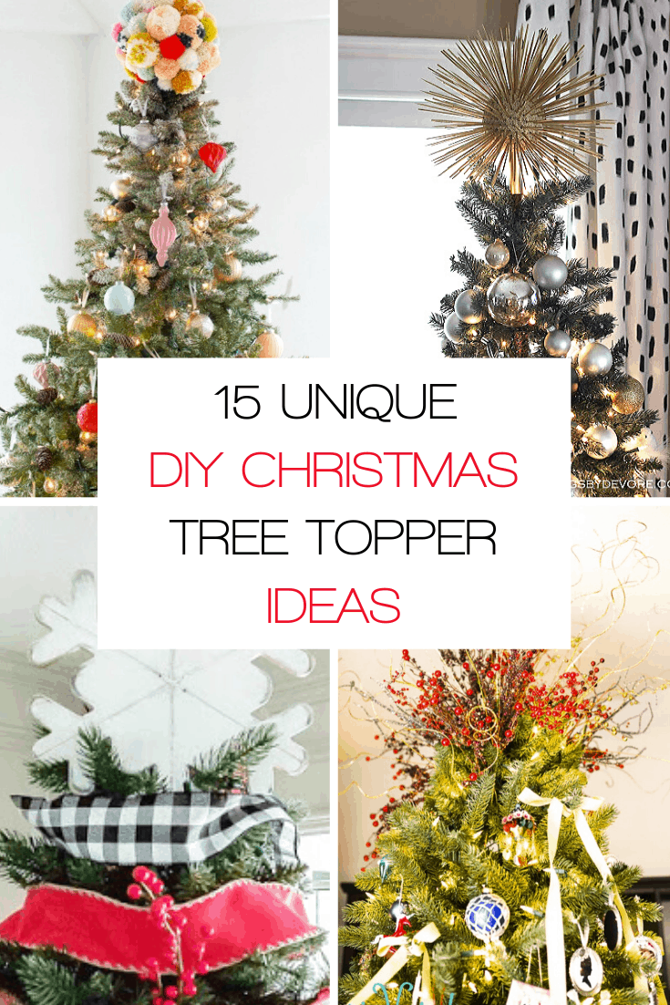 15 unique DIY Christmas tree topper ideas to top off your Christmas tree with style.
