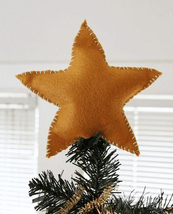 Crafty Christmas | DIY Felt Star Tree Topper