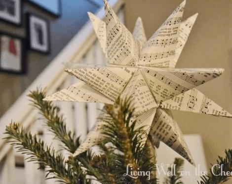 DIY Moravian Star Tree Topper