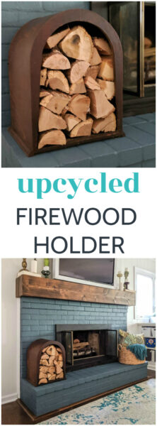 You'll never guess what this beautiful arched firewood holder is actually made from! This repurposed firewood holder is the perfect combination of style and function.