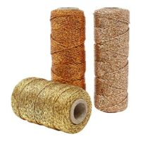 Just Artifacts 3pcs Assorted Eco Metallic Bakers Twine 55-Yards 11Ply (Assorted #2)