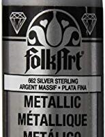 FolkArt Metallic Acrylic Paint in Assorted Colors (2 oz), 662, Silver Sterling