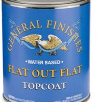 General Finishes Flat Out Flat Topcoat, Quart