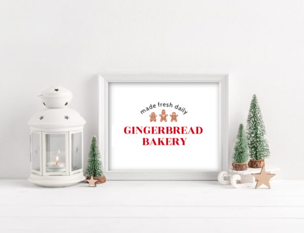 Gingerbread Bakery Free Printable