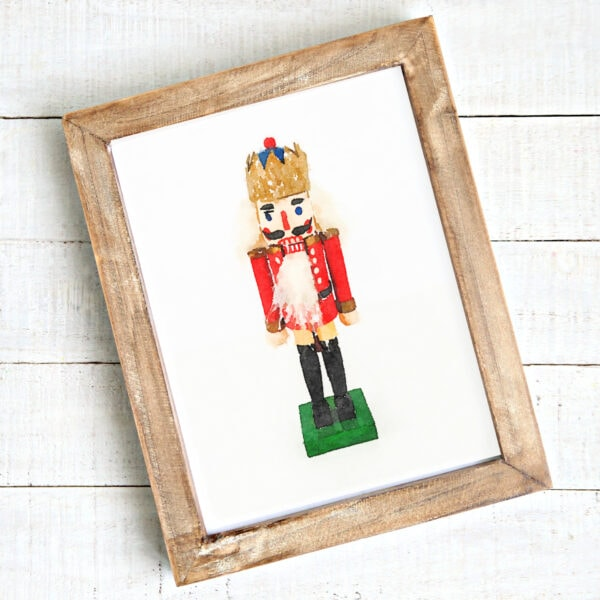 framed nutcraker art print