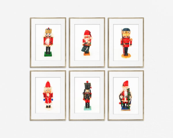 Gallery wall of 6 nutcrackers printables