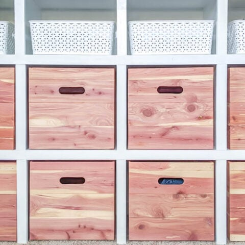 DIY Wood Storage Cubes