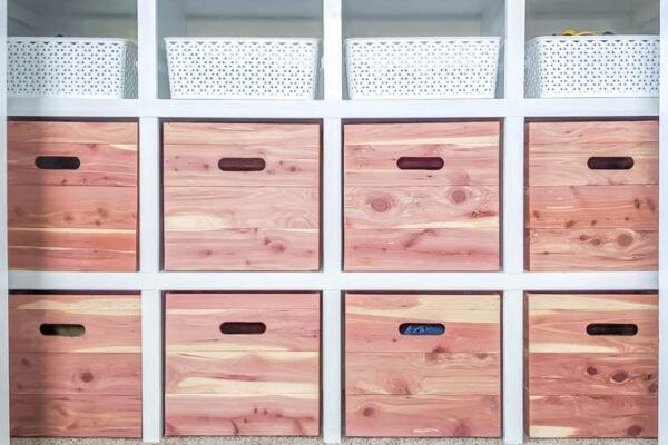 diy wood storage cubes