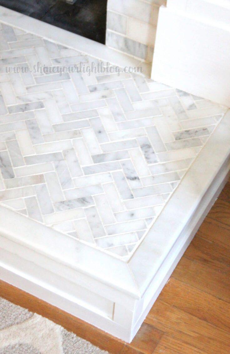 How To Tile Over A Brick Hearth - Shine DIY & Design