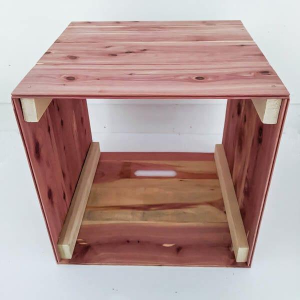 making wood storage cube 2