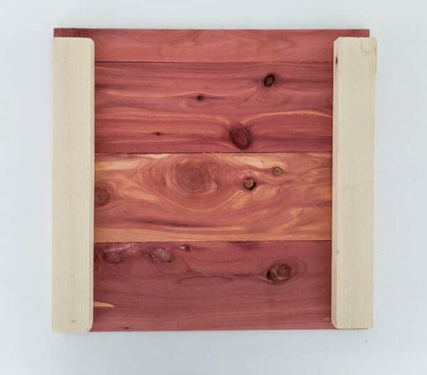 making a diy wood storage cube