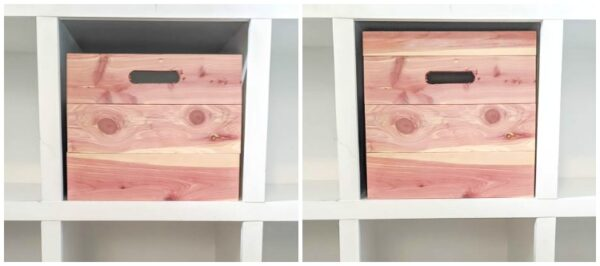 deciding size of diy cedar storage boxes