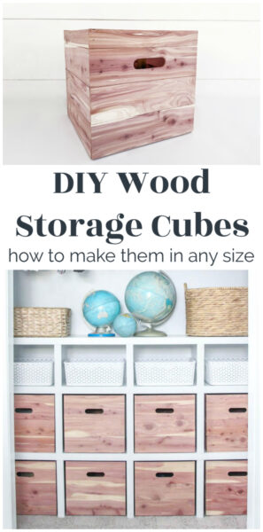 diy wood storage cubes - how to make them in any size