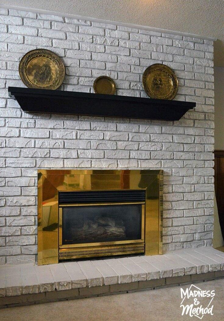 Dry Brush Bricks (Fireplace Makeover)