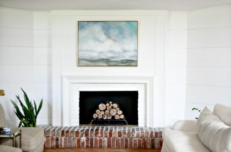 How I refaced my 1970's brick fireplace easily and inexpensively.