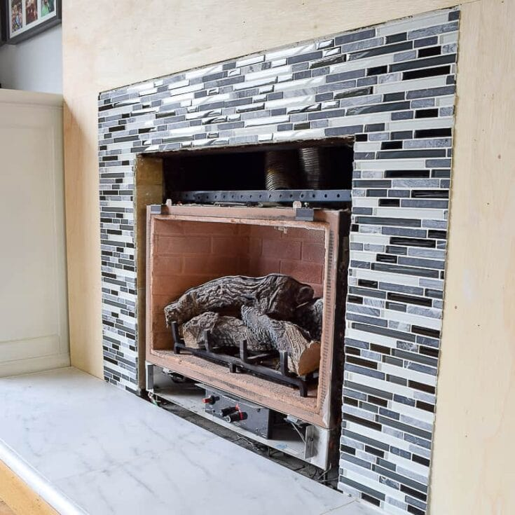 How To Tile a Fireplace (even if it's brick!)