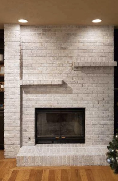How to whitewash a brick fireplace (for under $50)