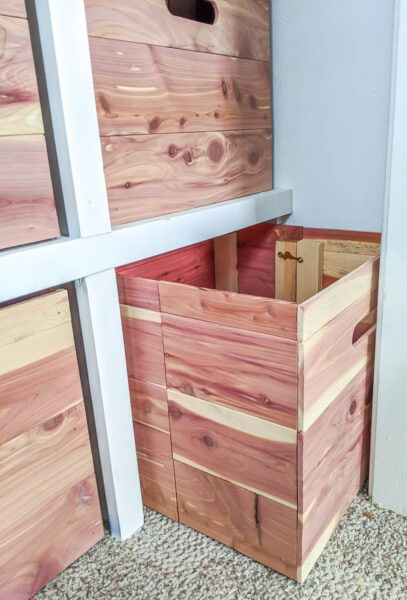 how to make collapsible wood storage cubes for small spaces
