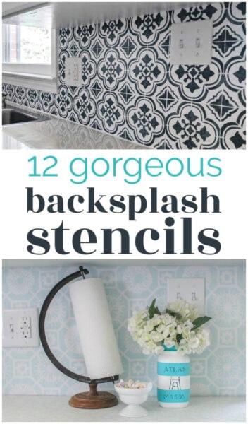 12 gorgeous backsplash stencils