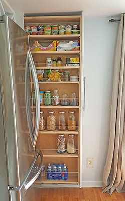 Organized Slide Out Pantry - The Honeycomb Home